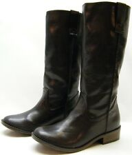 WOMENS MOSSIMO SUPPLY BROWN RIDING FASHION COWBOY WESTERN BOOTS SZ 7 M