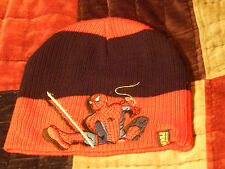Spider-Man - Beanie/Sock Hat) Red/Black - MARVEL - Embroidered - Free Ship.)