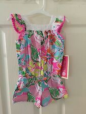 NWT GIRLS Lilly Pulitzer Target Romper 4T Pink Nosie Posey Nosey Posie Toddler