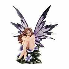 "Amy Brown Fantasy Periwinkle Flower Fairy Statue Enchanted 6""h Figurine"