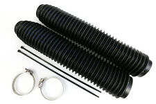 NEW MDR universal 35 wave fork gaitors for motocross enduro evo vintage black