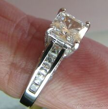 1.72 ct Princess cut Giamond Engagement ring 14K SOLID White or Yellow GOLD sz 7