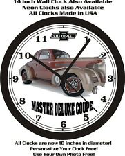 1939 CHEVROLET MASTER DELUXE COUPE WALL CLOCK-FREE USA SHIP!
