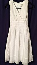 White House Black Market WHBM White Knee-length Dress,Size 6