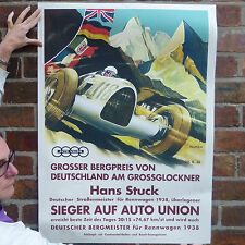 Hans Stuck 1938 Vintage car poster car racing motorsport rennwagon - A4