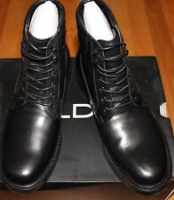 $120 ALDO BLACK INGLETT LEATHER BOOTS SZ 10UK/44EU/ 11US