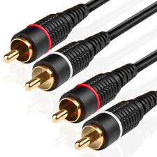 30FT 2RCA Male To 2RCA Male M/M Composite Audio Video Digital Coax Cable