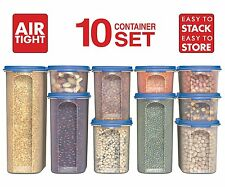 Food Storage Containers -STACKO- 20 PC. - Airtight Dry Food Container with Lids,