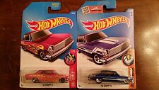 HOT WHEELS 2017 '63 Chevy II Pink HW Flames 7 of 10  HTF NEW NOVA + 2016 BLUE 2