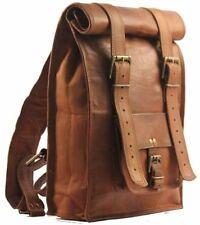Mens Leather Laptop Backpack Shoulder Messenger Bag Rucksack Sling Bag Vintage