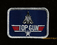 TOP GUN TOPGUN HAT PATCH BADGE F14 TOMCAT PIN UP USS PILOT MAVERICK US NAVY WOW