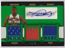 2006-07 Topps Triple Threads DWYANE WADE Auto Jersey Card #d 18 HEAT
