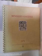 BENOZZO GOZZOLI Cassa di risparmio salernitana Calendario 1974 libro di arte