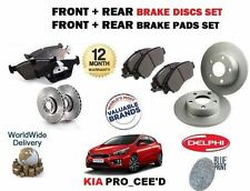 FOR KIA PRO CEED 1.4 2012--  NEW FRONT + REAR BRAKE DISCS SET + PADS KIT