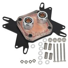 Universal Water Cooling CPU Block Liquid Cooler G1/4 Connector for AMD Intel