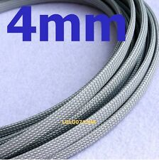 4mm x 5m GRAY Braided polyester sleeve Cable Cover 3 weave High densely Diy