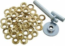 Am Tech Tarpaulin Repair Kit Includes 30 Rust Proof Brass Coated Eyelets And 3