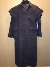 TRAIL DUSTER Gray Canvas Duster Western Ranch Jacket Long Coat Small Made in USA
