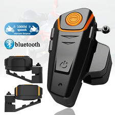 1000M Interphone BT Bluetooth Motorbike Motorcycle Helmet Intercom FM Headset
