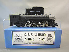 VH SCALE MODELS HO SCALE BRASS C.P.R. S-2a 2-10-2 STEAM ENGINE & TENDER (CUSTOM)