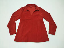 Motherhood Maternity Red Velour Shirt Womens Size Large Great Condition