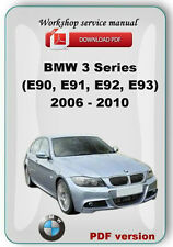 BMW 3 Series (E90, E91, E92, E93) 2006 - 2010 Workshop Service Repair Manual