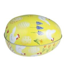 Traditional Yellow Easter Egg Tin Container / Candy Storage Box by Gisela Graham