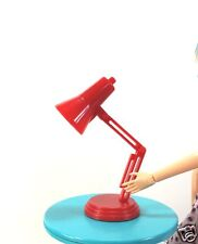 1:6 Scale Red Desk Lamp Light Working LED for Barbie Monster High or Blythe