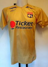 OLYMPIC LYON 2008/09 S/S GOLD AWAY SHIRT BY UMBRO SIZE MEDIUM BRAND NEW