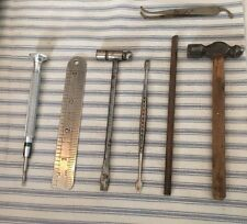 Vintage Jeweler Gunsmith Machinists Lot Of 7 Small Tools Hammers Screwdrivers