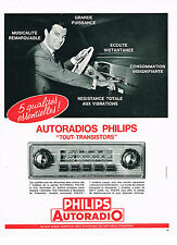 PUBLICITE ADVERTISING 044  1963  PHILIPS  auto-radio tout transistor