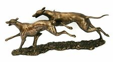 Pair Greyhound racing Bronze/Resin  Sculpture NEW gift