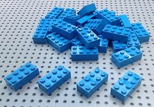Lego Mid Blue / Azure 2x4 Brick (3001) x25 in a set *BRAND NEW* Space City