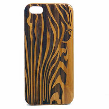 Zebra Case for iPhone 7 Bamboo Wood Cover African Animal Print Stripe Pattern