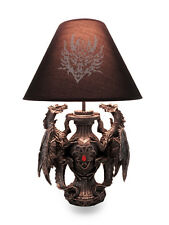 Scratch & Dent Gothic Guardians of Light Medieval Dragons Table Lamp