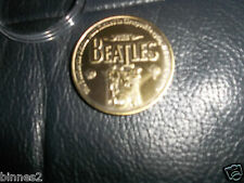 THE BEATLES COMMEMORATIVE  BRASS / GOLD / BRONZE (COLOURED) COIN/ MEDAL IN CASE