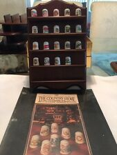 The Country Store Thimble Collection by Franklin Mint - EXC Cond