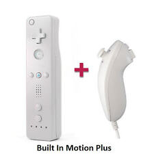 Built in Motion Plus Remote Control + Nunchuck Case Strap For Nintendo Wii U Wii