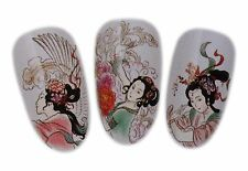 Classical Geisha Design Nail Art Water Decal Sticker For Natural/False Nails