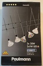 Org Paulmann Seilsystem HaloLED 3x20W GU5,3 + 2x1W 7-Colour LED Metall Chrom NEU