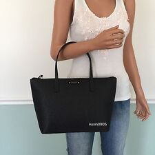 NEW! KATE SPADE Gorgeous Black Hani Sparkling Leather Small Hand Tote Bag Purse