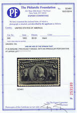 SCOTT# 245 UNUSED $5 OG, LH,  XF COLUMBIAN 1893, WITH PF CERT