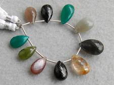 80ctw Labradorite Green Onyx Moonstone Vesuvianite Black Spinel Pear Beads