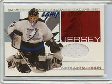 2001-02 IN THE GAME BE A PLAYER UPDATE NIKOLAI KHABIBULIN GAME WORN JERSEY