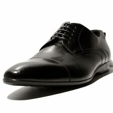 HUGO BOSS Black OSCER X Oxford Leather Cap Toe Dress Shoes 10 43 Mens Casual .5
