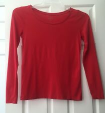 Women's Ann Taylor Loft Long Sleeve Top Size XS Shirt Knit Red