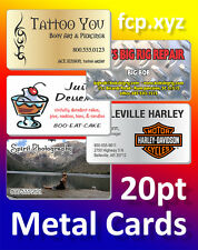 100 Full Color Custom Printed Metal Business Cards With Rounded Corners