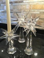 Crystal Star Candleholder Set