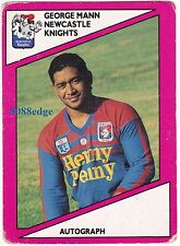 1988 SCANLENS RUGBY LEAGUE #134: GEORGE MANN - NEWCASTLE KNIGHTS/KIWI/TONGA TEST