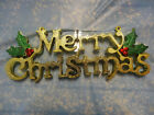 LARGE MERRY CHRISTMAS PLAQUE DOOR DECORATION 48CM RED GOLD OR SILVER PACK OF 3
